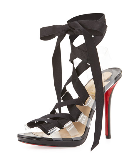 Christian Louboutin Satin Lace-Up Pumps clearance exclusive zJZplcD72