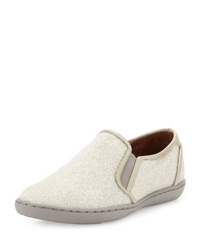 Maya Beaded Slip-On Sneaker, White