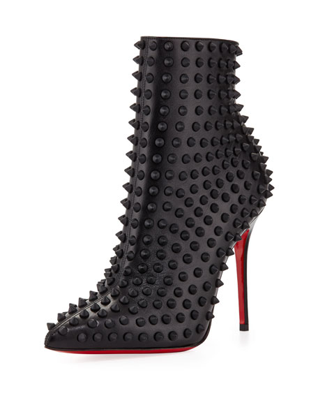 sports shoes 4ed71 d4733 Snakilta Spiked Red Sole Ankle Boot Black Matte