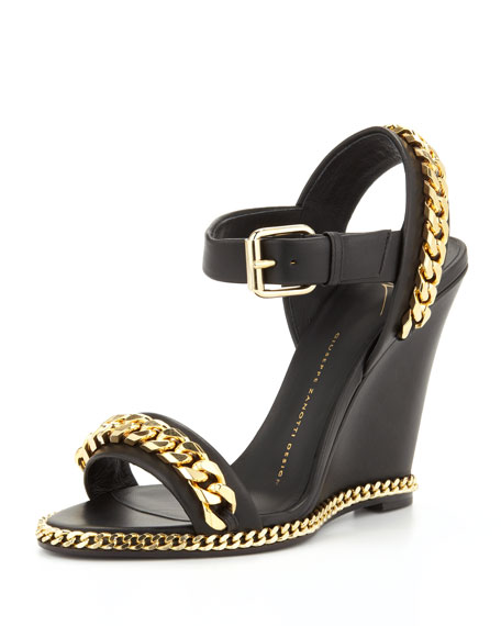 discount original Giuseppe Zanotti Leather Wedged Sandals sneakernews cheap price clearance best wholesale best sale cheap online pictures cheap online PZ48hu65