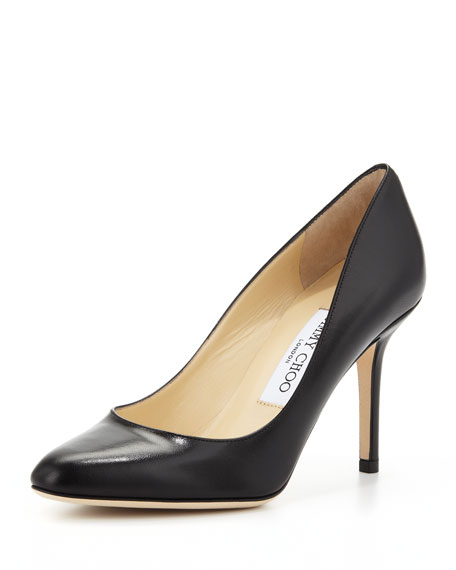 abbfe954f61 Jimmy Choo Gilbert Leather Almond-Toe Pump