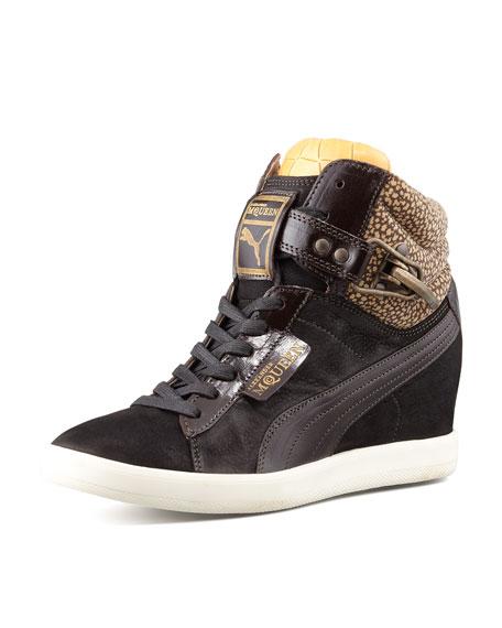 newest 97c91 b4d20 Alexander McQueen PUMA Joustesse Mid-Wedge Sneaker, Black