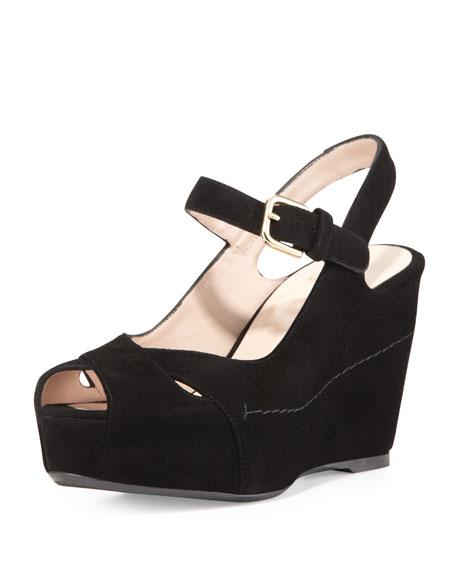 cheap sale shopping online cheap collections Stuart Weitzman Suede Slingback Platform Sandals wyVlV