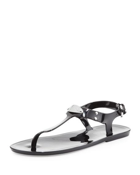 7755ffc95b5 MICHAEL Michael Kors MK Plate Jelly Flat Thong Sandal