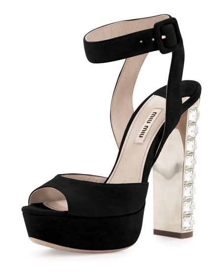 Miu Miu crystal heeled sandals big sale cheap online QVggj7vLF