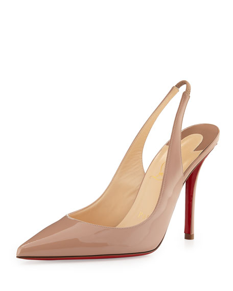 a34009ffcfa Christian Louboutin Apostrophy Red-Sole Slingback Pump