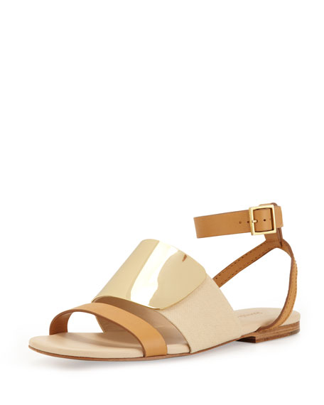 d0637ef6dd42 See by Chloe Metal Strap Leather Sandal