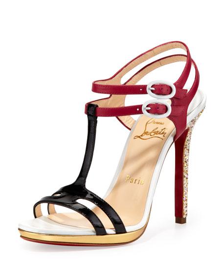 b01c181c8134 Christian Louboutin Double Tutti T-Strap Red Sole Sandal