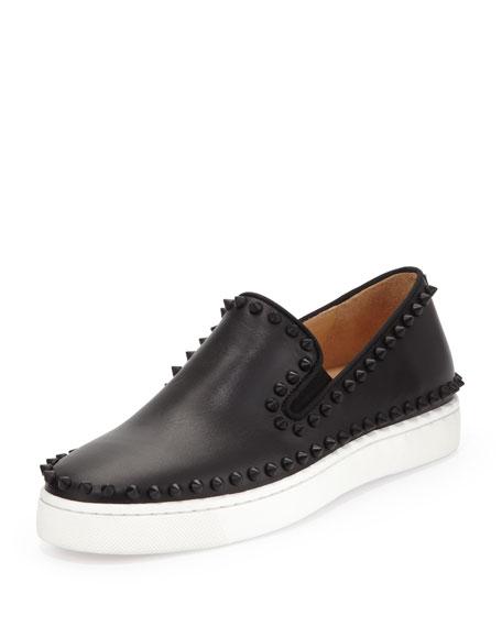 798a368e03d Studded Calfskin Slip-on Sneaker Black