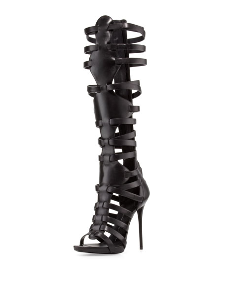 Giuseppe Zanotti Leather Knee-High Sandals pay with paypal sale online buy cheap cheap sale new clearance kF8PYkM