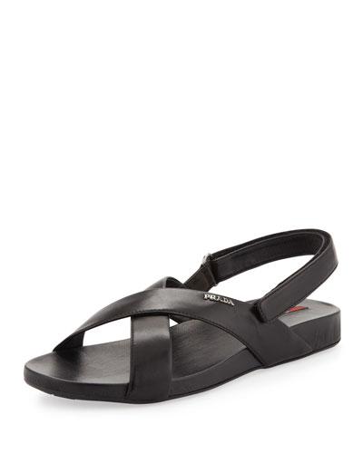 Crisscross Demi-Wedge Sandal
