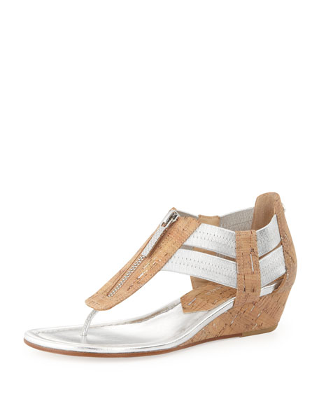 c8ee9cb3acce Donald J Pliner Dori Metallic Demi-Wedge Sandal