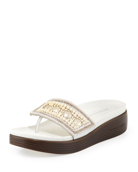 Donald J Pliner Embellished Platform Wedges