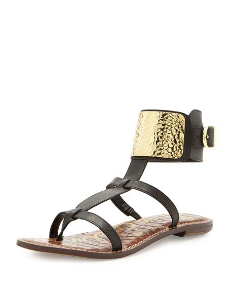 ea90dfd2a014 Sam Edelman Genette Ankle-Plate Gladiator Sandal