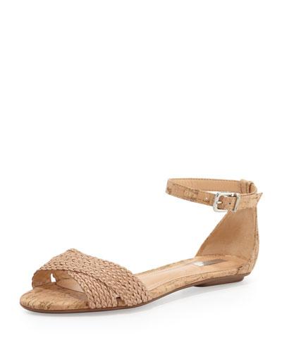 Fleuranne Cork and Leather Sandal