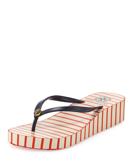 83133882e5bee2 Tory Burch Thadine Rubber Wedge Flip Flop