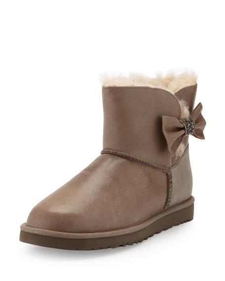 189c44ad51 UGG Australia Mini Bailey Bow Crystal Shearling Fur Boot