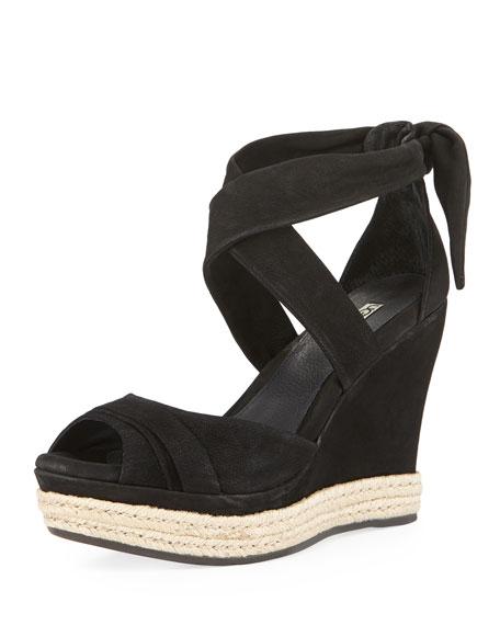 860f104e264 Lucy Nubuck Wedge Sandal Black