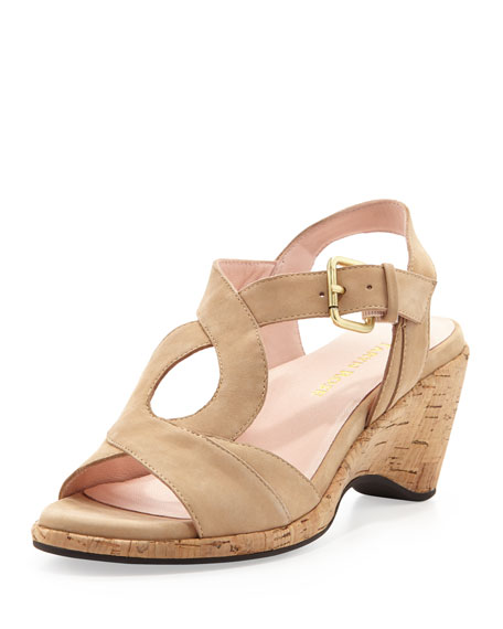 cheap best Taryn Rose Suede Wedge Sandals free shipping comfortable buy cheap clearance store cheap sale get authentic 7hi4wE