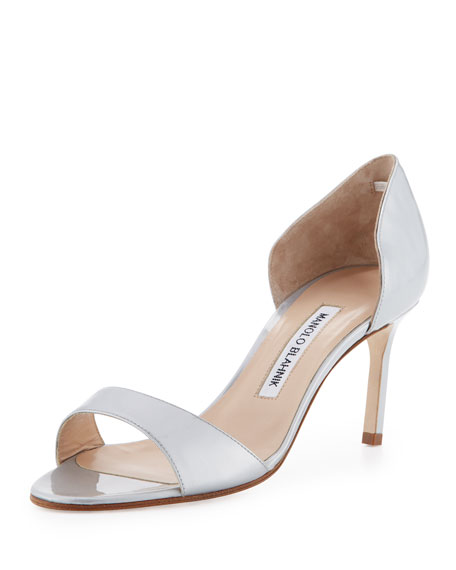 Manolo Blahnik Metallic D'Orsay Sandals outlet free shipping authentic discount visit new Q3RJ7HWWb