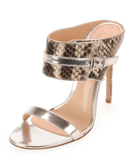 Gianvito Rossi Python Slide Sandals free shipping countdown package amazon sale online cheap price wholesale price affordable cheap price buy cheap 2014 newest rOIHdDu