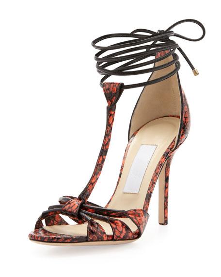 6309682a572 Jimmy Choo Motive Snake Ankle-Wrap Sandal