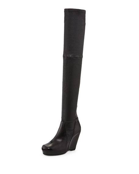 from china for sale clearance marketable Rick Owens Over-The-Knee Wedge Boots 7VPtrJE