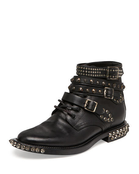 Saint Laurent Rangers Studded Ankle Boot 35c2092e7425