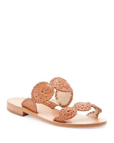 Lauren Double-Strap Sandal, Cognac
