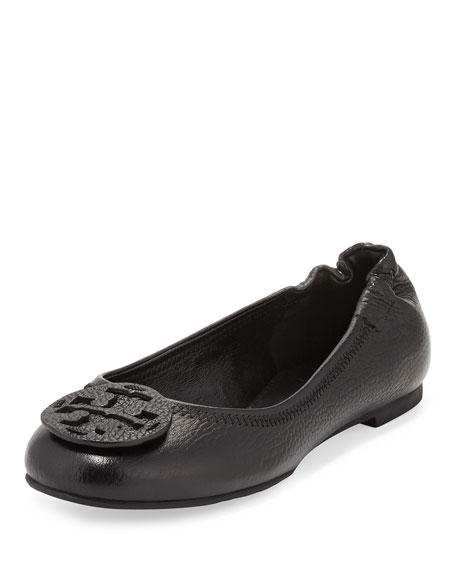 b4cbb91ff3db47 Tory Burch Reva Tumbled Leather Ballerina Flat