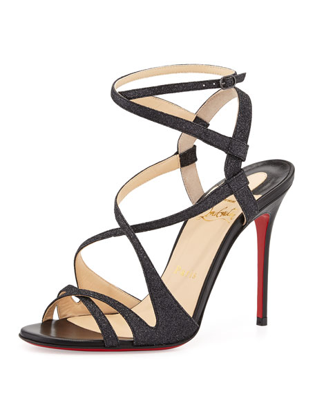 browse online free shipping outlet locations Christian Louboutin Audrey 100 Patent Leather Sandals buy cheap newest 1Vil7Y