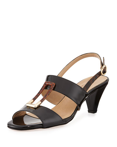 Gale Patent Ornament Sandal, Black