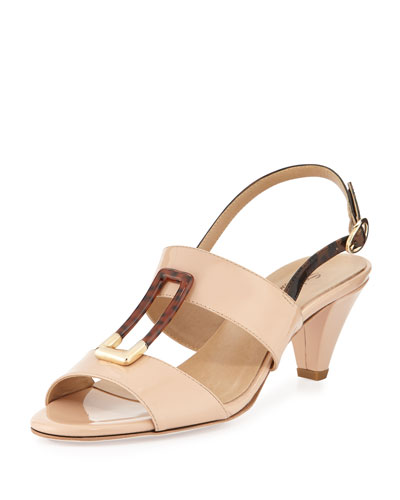 Gale Patent Ornament Sandal, Nude