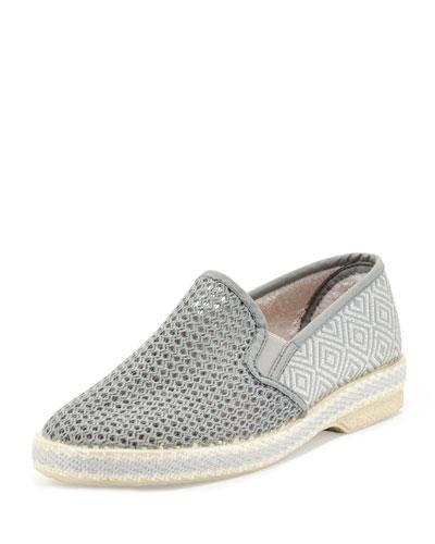 Leucate Woven Slip-On Loafer, Gray