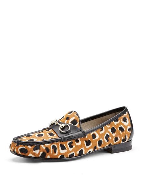 2edc07bc1060 Gucci 60th Anniversary Leopard-Print Calf Hair Loafer