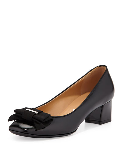 My Muse Patent Bow Pump, Nero