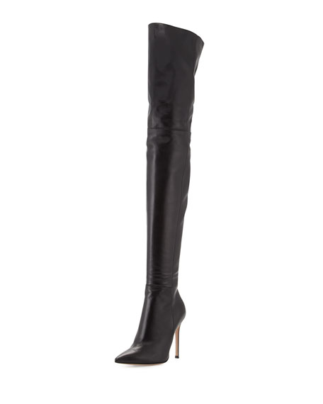 best place to buy Gianvito Rossi Leather Over-The-Knee Boots discount best place hDHHnr