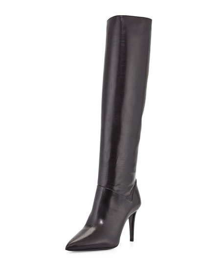 Prada Leather Knee Boots buy cheap pay with paypal free shipping low cost oxHk0a