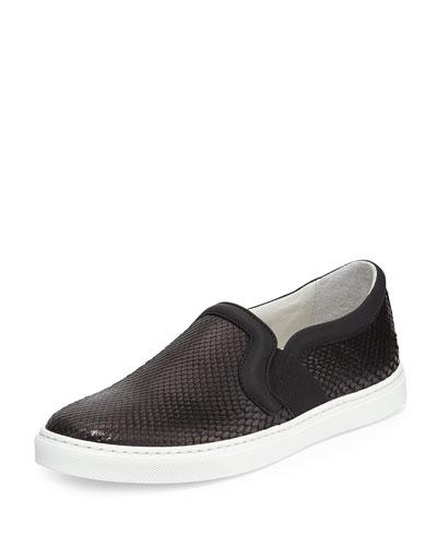 Python Slip-On Skate Sneaker, Black