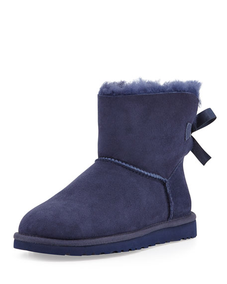 Mini Bailey Bow-Back Boot, Navy