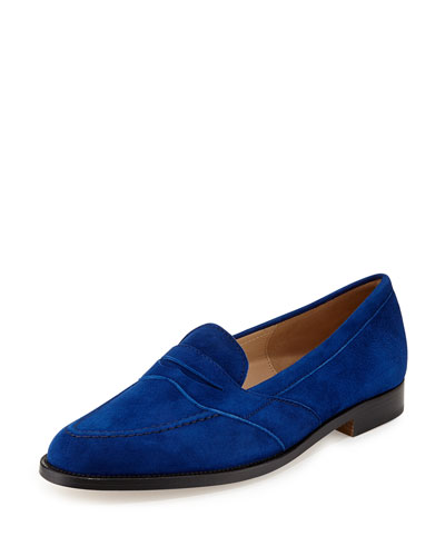 Consulta Suede Penny Loafer, Blue