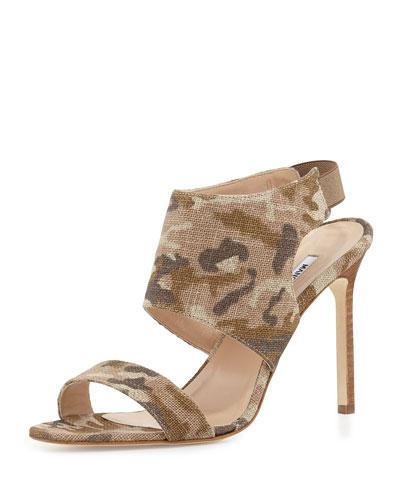 Loyal Linen Canvas Sandal, Camo