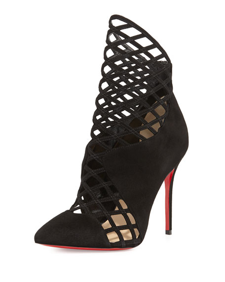 Christian Louboutin Suede Cutout Booties discount authentic clearance fast delivery recommend online discount genuine cheap sale under $60 ADYVZl