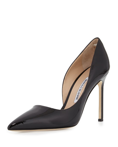 outlet top quality discounts for sale Manolo Blahnik Suede Half d'Orsay Pumps outlet choice free shipping release dates perfect sale online B3iiK