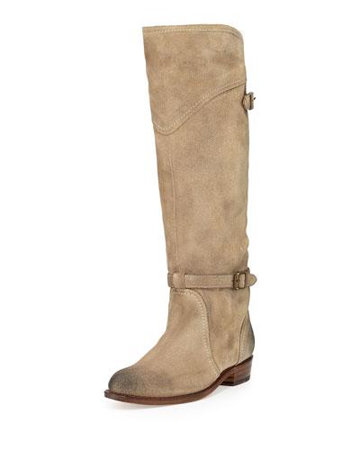 Dorado Suede Riding Boot, Sand
