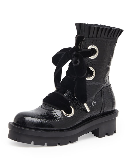 Alexander McQueen Patent Leather Boots jSI6T2M7yp