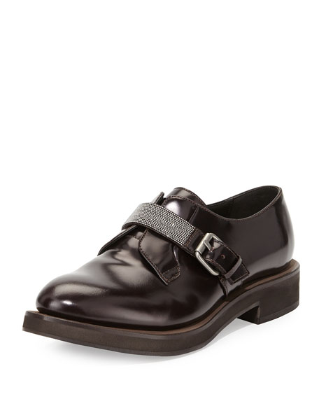 Brunello CucinelliMonili-Strap Leather Loafers TkaJPDE