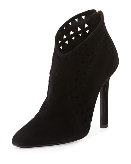 buy cheap collections Tamara Mellon Suede Laser Cut Booties sale discounts clearance enjoy buy cheap new styles sale best M9FNpj0