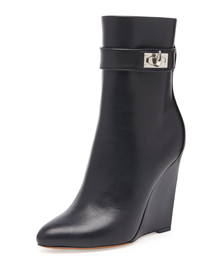 Givenchy Leather Wedge Ankle Boots with paypal free shipping free shipping 100% guaranteed release dates authentic discount limited edition Manchester cheap online PUxBLT7YNt
