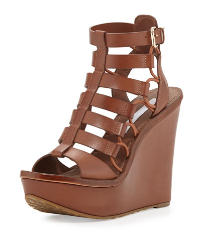 Lexington Strappy Wedge Sandal, Sandalwood